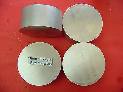 "4 Pieces 3"" ALUMINUM 6061 SOLID ROUND ROD 1-3/4"" long NEW Lathe Bar Stock 3.000"""