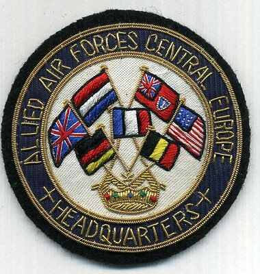 ALLIED AIR FORCES CENTRAL EUROPE HEADQUATERS handgestickt