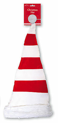 Huge Giant Large Striped Christmas Hat - Santa Red White Fancy Dress Party - New