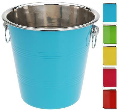 Colourful Metal 21cm Ice Utility Bucket Wine Beer Champagne Cooler Party BBQ