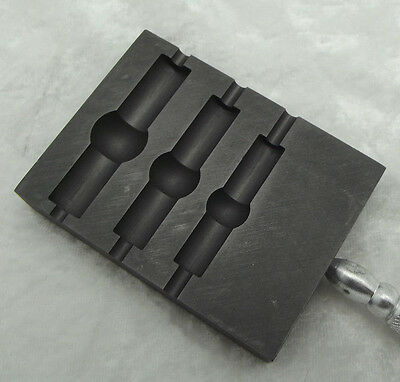 "GRAPHITE Paddle Tube Banded Large Bead Shaper 3 Sizes 9.75"" Long Hot Glass"