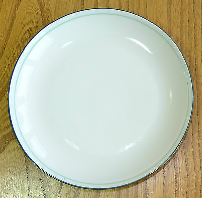 Denby (Intro) Tea or Side Plate - pale cream front with a dark green reverse