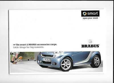 Smart And Brabus Accessories Range Sales Brochure September 2010 For 2011