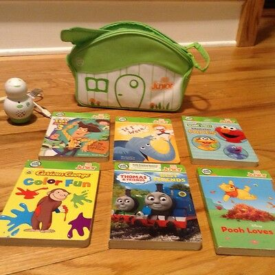 Leap Frog Tag Junior and 6 books