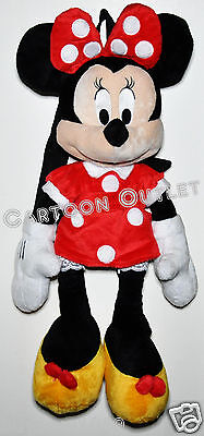 """Minnie Mouse Plush Doll Backpack X Large 21"""" Toy Disney Bag Tote Authentic"""