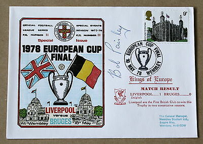 Liverpool V Bruges European Cup Final 1978 Dawn Cover Signed By Bob Paisley
