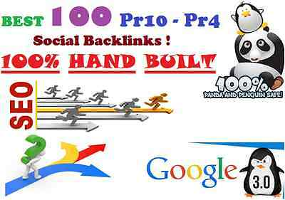 Get Penguin 3.0 Safe 100+ ( PR10 - PR4 )  BEST Social Backlinks Available ! SEO