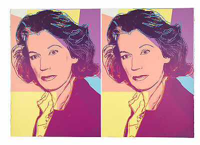 1980 Andy Warhol Mildred Scheel Unique Trial Proof Signed Numbered Serigraph Nr!