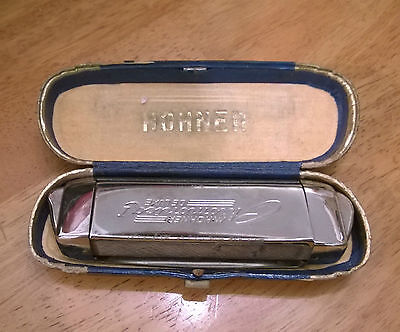 M Hohner Chromatic Harmonica Deluxe Vintage Made In Germany 440 original case