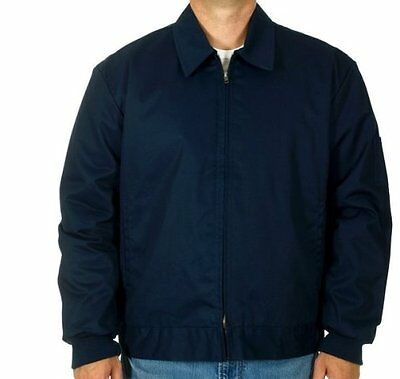 "Mens Work Jacket Mechanic Style Zip Jacket Navy JH Work Wear Brand New ""SALE"""