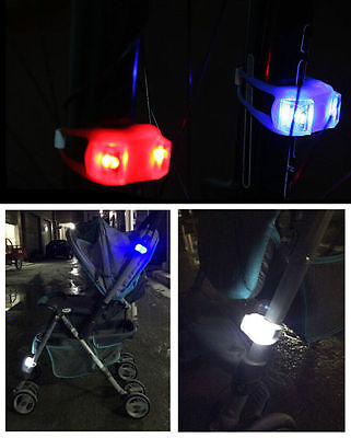 Stroller Cycling Bicycle Bike Rear Tail Front Wheel LED Warning Flash Light Lamp