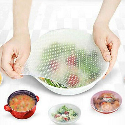 20x20 Silicone Wraps Seal Cover Stretch Cling Film Kitchen Tool Food Fresh Keep