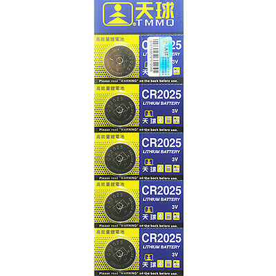Creative 5Pcs CR2025 Batteries 3V Coin Cell Button for Toys Remote Weigher Board
