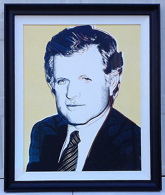1980 Andy Warhol Edward Kennedy Unique Trial Proof Signed Numbered Serigraph Nr!
