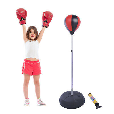 Punchingball Punching-Training Standbox Standboxsack mit Boxhandschuhen Boxen