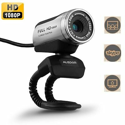 AUSDOM AW615 Full HD 1080P USB 2.0 Webcam Web Cam Camera with Mic for PC Laptops