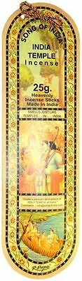 Song of India Incense Sticks: 25 Gram (20 Stick) Pack (Indian Temple)