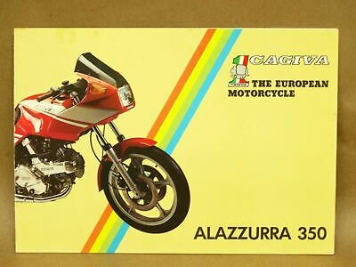 Vtg 1985 Cagiva Alazzurra 350 Motorcycle Street Bike Brochure Specifications