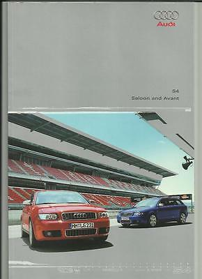 Audi S4 Saloon And Avant Sales Brochure 2002 2003
