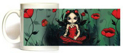 POPPY GARDEN Fairy Coffee Cup Mug Jasmine Becket-Griffith faery faerie