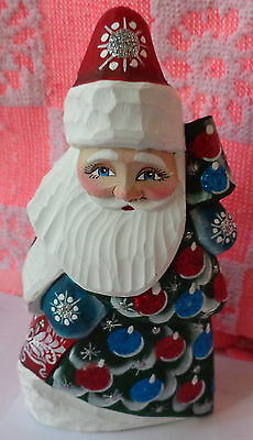"""Russian hand carved&painted wood Santa Father of Frost.6.0 """"   #20 ss"""