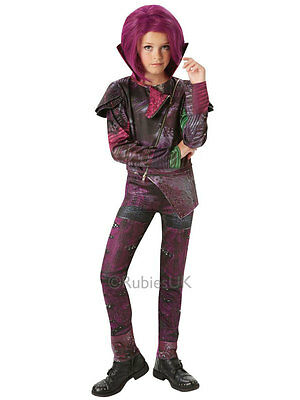 Child Disney Descendants Mal Deluxe Fancy Dress Costume Isle Of The Lost Girls