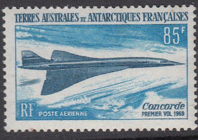 AIRCRAFT:1969 FRENCH ANTARCTICA Concorde First Flight SG53 MNH