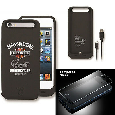 Harley Davidson 7750 Charging Battery Case for iPhone 6s with Glass SP