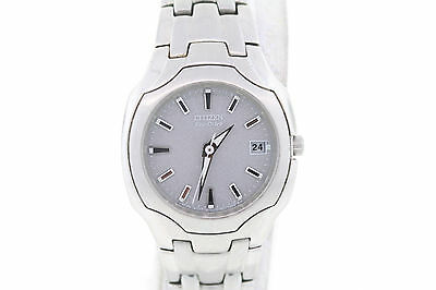Ladies Citizen EW1250-54A Eco-Drive Stainless Steel Grey Dial Watch