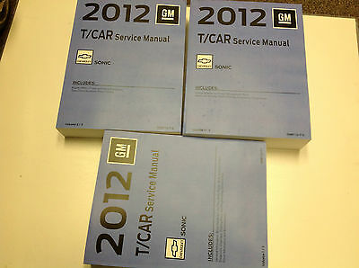 2012 Chevrolet Chevy SONIC Service Shop Repair Manual Set FACTORY NEW OEM 2012