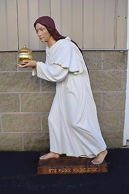 """+ Wood Carved Statue of Mary Magdalene + 49"""" ht. + (MJ-2) + + + chalice co."""