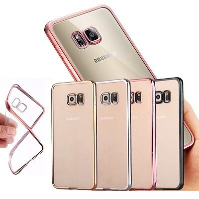Ultra Slim Clear Transparent Shockproof Case Cover For Samsung Galaxy S6 S7 Edge