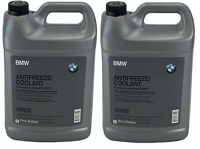 2 Gallons Set GENUINE BMW Engine Coolant Antifreeze Fluid Blue 100% Concentrated