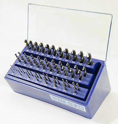 Presto UK 09902M25 metric 55pc 1-13mm + tapping sizes HSS Hi-Nox drill bank set