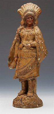 Antique Pottery Native American Figure 19Th C.