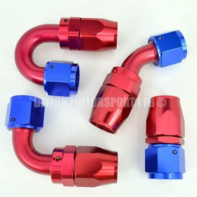 AN10 -10 10AN JIC Braided Hose Fitting Red / Blue (Select Angle) Fuel Oil Water