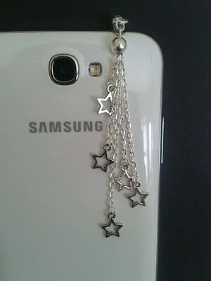 Hollow Stars Dangle Charm For Mobile Phones. Tablets. Ipads. Iphones. Dust Plug.