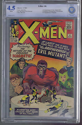 X-Men #4 Marvel 1964 CBCS 4.5 (VERY GOOD + ) 1st Toad, Scarlet Witch,Quicksilver