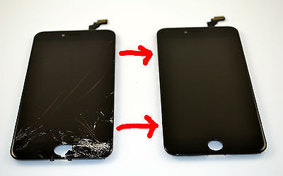 iPhone 6+ Plus Cracked Glass Screen Repair Replacement Refurbish Service OEM