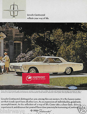 Lincoln Motor Cars 1966 Continental Reflects Your Way Of Life White Coupe Ad
