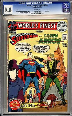 World's Finest #210 Cgc 9.8  White Pgs!  Superman, Green Arrow  Neal Adams Cover