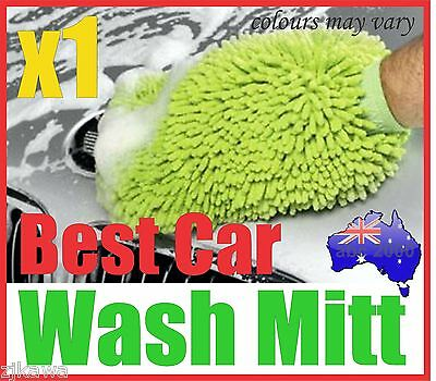 1x MICROFIBRE CAR HOME WASH CLEANING MITT GLOVE POLISHING CLOTH DUSTER