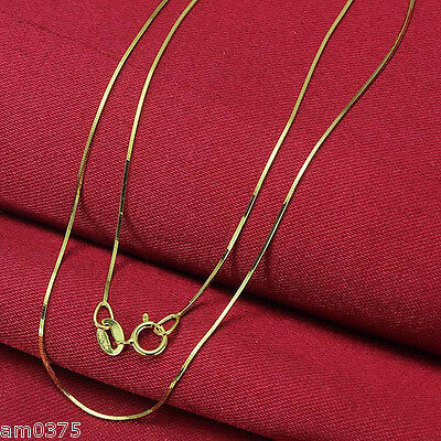 """17.7/""""L Au750 Fine Real 18K Yellow Gold Necklace Women/'s Elegant Snake Chain"""
