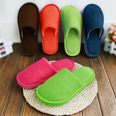 Soft Women Men Anti-slip Flat Shoes Winter Warm Cotton House Indoor Slippers