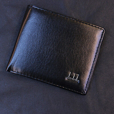 Business Leather Wallet Men Black Pocket Card Holder Clutch Bifold Slim Purse