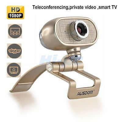 AUSDOM Full HD 1080P 12MP USB 2.0 Webcam Web Cam Camera with Mic for PC Laptops