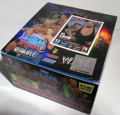 Slam Attax/ WWE /Rumble/ 1 Display = 50 Tüten /Trading Cards / Neu / OVP