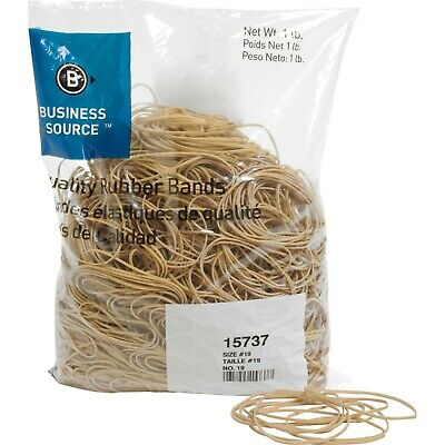 "Rubberbands Size 19 3 1/2"" x 1/8"" x 1/32"" Business Source BSN 15737   1lb"
