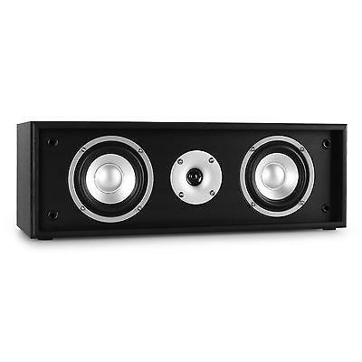 Altavoz 2 Vias Hifi Home Cinema Central 35W Rms Woofer Sonido Cine Tv Dvd Negro