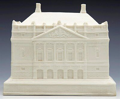 Antique Parian Tobacco Jar Modeled As Queen Mary's Dolls House 19Th C.